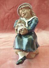 JIE SWEDEN Keramik Figur Mädchen mit Puppe Design Ewa Jarenskog pottery figurine