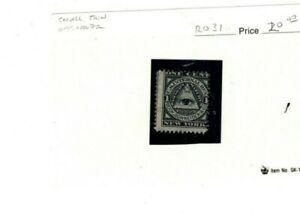 US revenue stamp RO 31