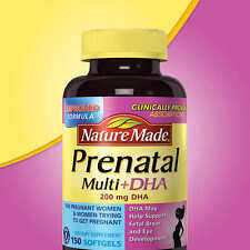 Nature Made Prenatal Multi Vitamin + Nature Made PrDHA, 200 mg DHA, 150 Softgels