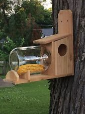 Cedar Wood Squirrel Feeder Without Gallon Feed Jar