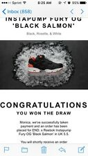 END X REEBOK INSTA PUMP FURY OG 'BLACK SALMON UK 5.5*RECEIPT PROVIDED* DEADSTOCK