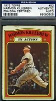 Harmon Killebrew Vintage Signed 1972 Topps Psa/dna Certified Autograph Authentic