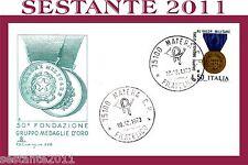 ITALIA FDC CAPITOLIUM 226, GRUPPO MEDAGLIE D'ORO 1973, ANNULLO MATERA B7