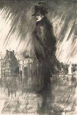 """LEROY NEIMAN BOOK PRINT """"NAPOLEON BONAPARTE"""" 19TH C.GENERAL & EMPEROR OF FRANCE"""