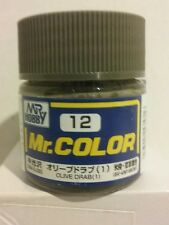 Gunze Sangyo/Mr Hobby  acrylic paint. C-12 Olive Drab, 10ml