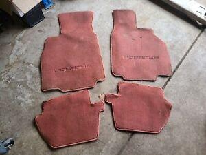 Porsche 996 Floor Mat Carpet Set Boxster Red Mats