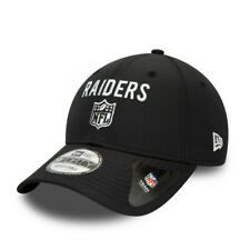 NEW ERA LAS VEGAS RAIDERS BASEBALL CAP.9FORTY TEAM FLAG BLACK STRAPBACK HAT W20