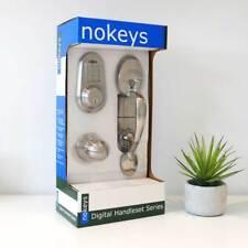 Electronic keyless keypad code door lock deadbolt NOKEYS brand set with remote