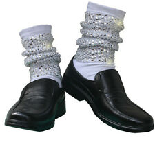 Michael Jackson Handmade MJ Sewing Crystal Dancing Baggy Scoks Moonwalk