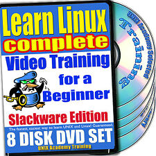 Learn Linux Complete 8-Dvd Video Training Slackware Set
