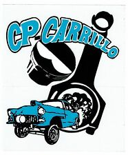 "CP CARRILLO Sticker Decal 5"" x 6"" Clear Background"