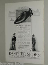 1925 Banister Shoes advertisement, Gentleman's Shoes, well-dressed man