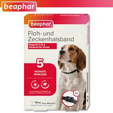 Beaphar 1 x Floh- und Zeckenhalsband für Hunde | schwarz | 60cm | wirkt 5 Monate