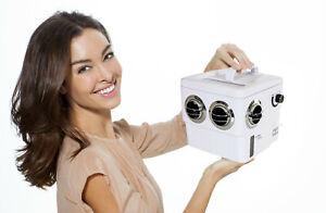 Transcool E3 - White/Chrome 4 Vent Portable 12 Volt Air Cooler