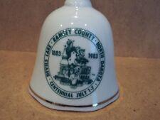 ceramic bell centennial (1883-1983) of Devil's Lake in Ramsey County, Nd, v nice