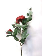 Artificial Red Hydrangea Stem Artificial Flowers Artificial Leaves Silk Flowers