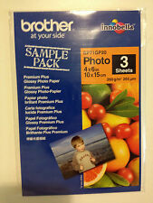Brand New In Original Packaging Brother 3 Photo Sheets 4x6 in 10x15cm 260g/m2