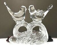 "Vintage Murano Hand Blown Art Glass Love Birds On A Wave Heavy 6"" Figurine MINT"