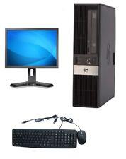 HP RP5800 SFF Desktop Intel i3-2100 3.1GHz 4GB 250GB DVD Win 10 Home + 19 LCD