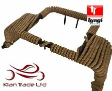 ROYAL ENFIELD JUTE ROPE WRAPPED LEG GUARD - HEAVY DUTY CRASH BAR - LATEST DESIGN