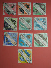 10 Double Stamps SHARJAH Dependencies Science Transport Telecommunications 1965