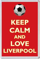 Keep Calm and Love Liverpool - Jumbo Fridge Magnet Football FC Themed Gift