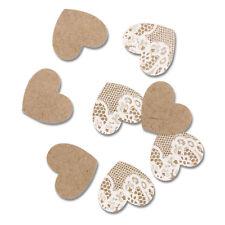 marrone e bianco a forma di cuore coriandoli CARTONE E MERLETTO 2 CONFEZIONI
