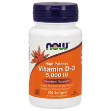 Vitamin D-3, 5000iu x 120 Softgels - NOW Foods D3