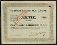 GERMANY 940/B&G -Vereinigte Berliner Mörtelwerke Aktiengesellschaft, 1000 RM1923
