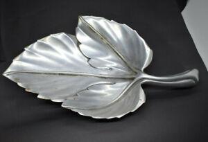 Vintage Bruce Fox Aluminum Leaf Dish Mid Century