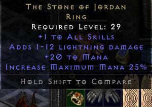 Diablo 2 Resurrected SC Battle.net (PC) Stein von Jordan / Stone of Jordan (SOJ)