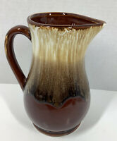 Vintage Roseville Pottery Brown Drip Pitcher USA RRP Co