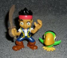 Disney Jake & Neverland Pirates Jake & Skully Parrot Toy Figure Cake Toppers