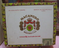 Vintage Macanudo Montego Y Cia Empty Wood Cigar Box