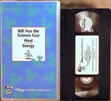 RARE VINTAGE DISNEY CLAMSHELL VHS Bill Nye the Science Guy HEAT ENERGY 68A11VL00