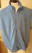"Men's Mamentum Performance Outfitters Blue Fleece Vest XXL ""Up North Michigan"""