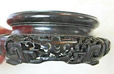 socle bois sculpté chine vase bois de rose ancien
