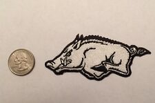 University of Arkansas Fayetteville Razorbacks  Iron On Patch Hogs Left