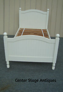 00001 Modern POTTERY BARN  Twin Size bed w/ Original rails