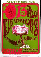 13TH FLOOR ELEVATORS & SIR DOUGLAS QUINTET 1966 AVALON SF - ORIGINAL 2ND SCARCE