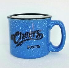 Vintage Boston Cheers TV Series Mug Cup Ceramic Stoneware Blue Black White 12 oz