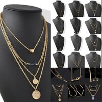 Hot Fashion Woman Infinity Gold Cute Choker Charms Long Chain Pendant Necklace