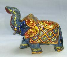 Lapis Lazuli Hand Carved Elephant Painted 480 Carat Decorative Figurine 274