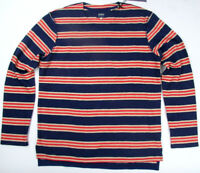 Levi's Made & Crafted Long Sleeve Red Navy 264480006 100% Heavy Cotton Levis