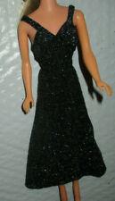 Vintage Barbie Superstar Fashion 1977 Black Sparkle Gown 9837