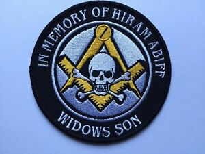 Widows Son Hiram Abiff Limited Edition Gold Square and Compass Patch Masonic 🔱