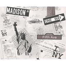 comme création New York Journal motif rétro Amérique Papier peint pour enfants