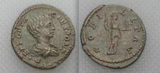Moneda ROMANA PLATA DENARIO GETA como César, nobilitas sosteniendo cetro & Paladio