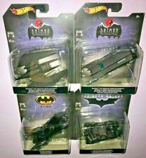 4x 2019 HOT WHEELS ANIMATED SERIES BATMOBILE + BATWING + TUMBLER ++ 1:50 SCALE