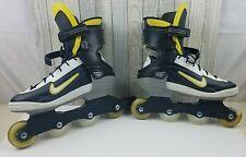 Nike Nspire Mens Inline Skates Rollerblades Sz 11.5 76mm 78A Yellow/Black